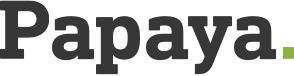 Papaya Studio Web Logo Dark